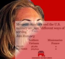Mitt Romney:  Draft Dodger or Selfless servant of the Lord?