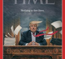 Trump, desperate for fame, fakes Time magazine covers with his own picture